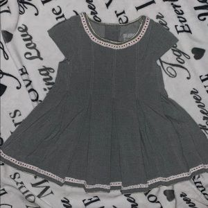 Grey soft dress with surer cute embroidery!